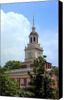 Independence Hall Canvas Prints - Independence Hall - Philadelphia Canvas Print by Frank Mari