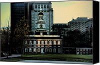 Independence Hall Canvas Prints - Independence Hall - The Cradle of Liberty Canvas Print by Bill Cannon