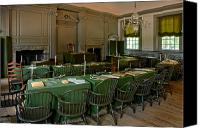 Signature Canvas Prints - Independence Hall in Philadelphia Canvas Print by Olivier Le Queinec