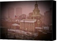 Independance Canvas Prints - Independence Hall in the Snow Canvas Print by Bill Cannon