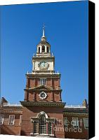 Independence Hall Canvas Prints - Independence Hall Canvas Print by John Greim