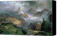 Thomas Moran Canvas Prints - Index Peak Canvas Print by Thomas Moran