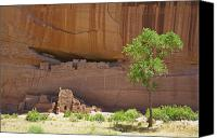 Ruins Canvas Prints - Indian Cliff Dwellings Canvas Print by Thom Gourley/Flatbread Images, LLC