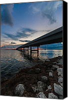 Florida Bridge Photo Canvas Prints - Indian Key Channel Canvas Print by Dan Vidal