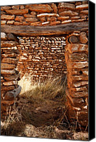 Indian Ruins Canvas Prints - Indian Ruins Doorway Canvas Print by Matt Suess