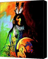 Contemporary Canvas Prints - Indian Shadows Canvas Print by Lance Headlee