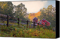 Country Scenes Canvas Prints - Indian Valley Farm Canvas Print by Bill  Wakeley
