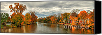 Indiana Autumn Canvas Prints - Indiana autumn landscape Canvas Print by Richard Fairless