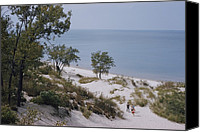Indiana Dunes Canvas Prints - Indiana Dunes State Park Provides Canvas Print by B. Anthony Stewart