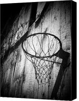 Basketball Canvas Prints - Indiana Hoop Canvas Print by Michael L Kimble