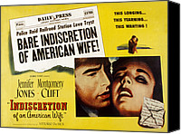 Posth Canvas Prints - Indiscretion Of An American Wife, Aka Canvas Print by Everett