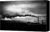 Factories Canvas Prints - Industrial Eruption Canvas Print by Ilker Goksen