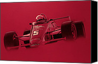 Team Canvas Prints - Indy Racing Canvas Print by Jeff Mueller