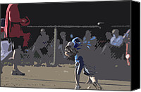 Sports Digital Art Canvas Prints - Infield Canvas Print by Peter  McIntosh