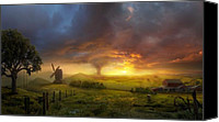 Sunset Mixed Media Canvas Prints - Infinite Oz Canvas Print by Philip Straub
