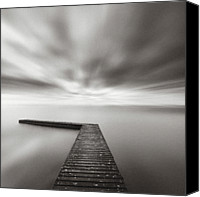 Jetty Canvas Prints - Infinite Vision Canvas Print by Doug Chinnery