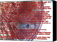 Americana Sculpture Canvas Prints - Information Microphotograph Number Two  Canvas Print by Phillip H George