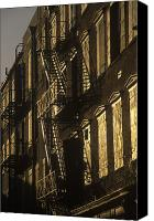 Fire Escape Photo Canvas Prints - Inner City Fire Escapes Canvas Print by Will & Deni McIntyre