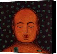 Tibetan Mixed Media Canvas Prints - Inner Visions Canvas Print by Gloria Rothrock