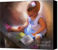 Bible Mixed Media Canvas Prints - Innocence And The Bible - Cuba Canvas Print by Bob Salo