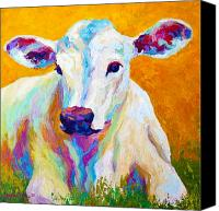Farm Tapestries Textiles Canvas Prints - Innocence Canvas Print by Marion Rose
