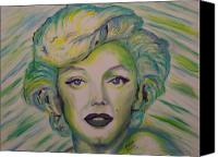 Regina Brandt Canvas Prints - Innocent Marilyn Canvas Print by Regina Brandt