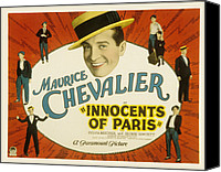 Chevalier Canvas Prints - Innocents Of Paris, Maurice Chevalier Canvas Print by Everett