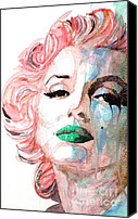 Marilyn Monroe  Canvas Prints - Insecure  Flawed  but Beautiful Canvas Print by Paul Lovering