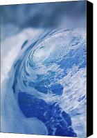 Water Art Canvas Prints - Inside Of Wave Tube Canvas Print by Ali ONeal - Printscapes