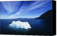 Water Art Canvas Prints - Inside Passage Iceberg Canvas Print by John Hyde - Printscapes