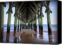 Pilings Canvas Prints - Inside Serenity Canvas Print by Karen Wiles