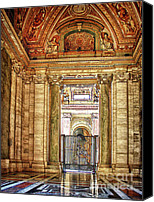 Vatican Digital Art Canvas Prints - Inside St. Peters Canvas Print by Julie Palencia