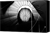 Balloon Festival Canvas Prints - Inside The Balloon Canvas Print by Bob Orsillo