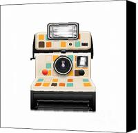 Insert Poster Canvas Prints - Instant Camera Canvas Print by Setsiri Silapasuwanchai