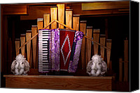 Accordion Canvas Prints - Instrument - Accordian - The accordian organ  Canvas Print by Mike Savad
