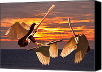 Rock Angels Canvas Prints - Instrumental Rift Canvas Print by Eric Kempson