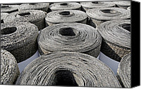 Building Materials Canvas Prints - Insulation Material Canvas Print by Carlos Dominguez