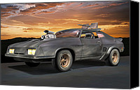 Custom Ford Digital Art Canvas Prints - Interceptor II Canvas Print by Stuart Swartz