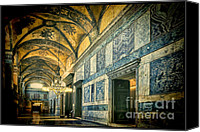 Byzantine Photo Canvas Prints - Interior Narthex Canvas Print by Joan Carroll