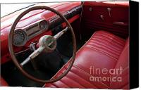 Cienfuegos Canvas Prints - Interior of a classic American car Canvas Print by Sami Sarkis
