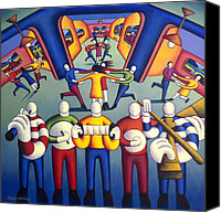 Kenny Canvas Prints - Interior  Trad.session With Dancers Canvas Print by Alan Kenny