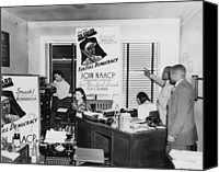 African Americans Canvas Prints - Interior View Of Naacp Branch Office Canvas Print by Everett