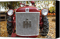 Red Tractors Canvas Prints - International Harvester McCormick Farmall Cub Farm Tractor . 7D10307 Canvas Print by Wingsdomain Art and Photography