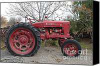 Red Tractors Canvas Prints - International Harvester McCormick Farmall Farm Tractor . 7D10320 Canvas Print by Wingsdomain Art and Photography