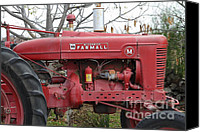 Red Tractors Canvas Prints - International Harvester McCormick Farmall Farm Tractor . 7D10321 Canvas Print by Wingsdomain Art and Photography