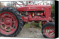 Farm Equipment Canvas Prints - International Harvester McCormick Farmall Farm Tractor . 7D10323 Canvas Print by Wingsdomain Art and Photography
