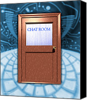 Chat Canvas Prints - Internet Chat Room Canvas Print by Victor Habbick Visions
