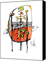Dan Drawings Canvas Prints - Interpretational Void Canvas Print by Dan Daulby