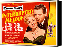 1955 Movies Canvas Prints - Interrupted Melody, Eleanor Parker Canvas Print by Everett