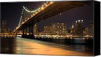 The City That Never Sleeps Canvas Prints - Into Manhattan  Canvas Print by JC Findley